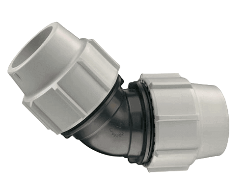 Plasson-type MDPE Compression Femelle x Coude Adaptateur Pour MDPE Eau Tuyau