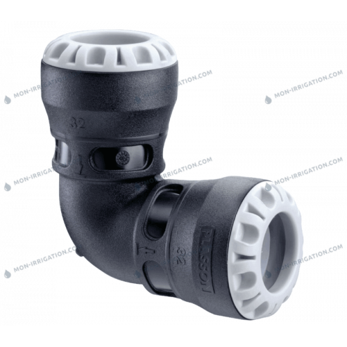 Coude 90 degres 20mm a 63mm - Raccord PLASSON Serie S1