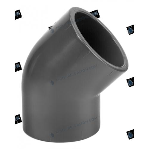 Coude PVC a 45 degres - PN16