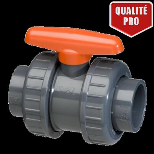 Vanne PVC A COLLER Double Union - VDL