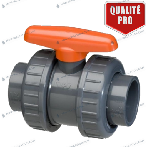 Vanne PVC a coller Double Union - VDL